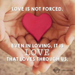 Love Is Not Forced